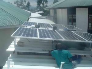 Installation d'un kit solaire chez CH Bethesda